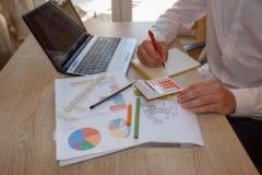 Como estabelecer uma empresa de pequeno porte Fazendo um plano empresarial Fotos de Stock