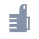 Como estilo plano del icono Imágenes de archivo libres de regalías