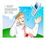 Como eu posso recordar o PIN-código? Foto de Stock