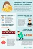 Como falar crianças controla finanças ilustração stock