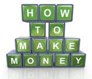 Como fazer o dinheiro Imagens de Stock Royalty Free