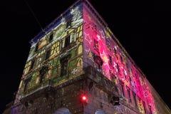 COMO, ITALIE - 28 décembre 2017 : l'illumina de lumières de Noël photographie stock