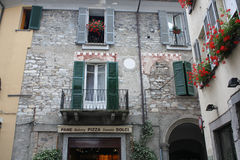 Como, Italy. Detail of some buildings in old town Como, Italy Royalty Free Stock Image