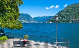 Architectures and landscapes of Como Lake Royalty Free Stock Photos