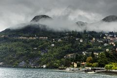 Como, Italy With Early Morning Fog stock photography