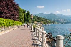Lake Como embankment view Royalty Free Stock Images