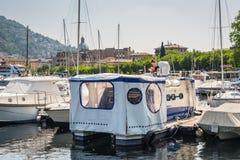 Recreation boats at Lake Como, Italy Royalty Free Stock Image