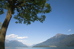 como jeziora krajobraz s Obrazy Royalty Free