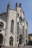 Como, la catedral de Santa Maria Assunta Foto de archivo libre de regalías
