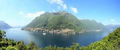 Como lake. Panorama of como lake in italy Stock Photos