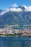Como lake and Alps Royalty Free Stock Image