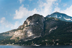 Como lake coast, Italy. Stock Photo