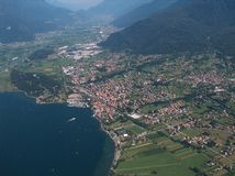 Como lake - Colico. Panoramic aerial view of Colico Royalty Free Stock Images