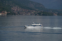Como. Lake Como in Italy beautiful scenery surrounded by snow capped mountains and lush Forrest Stock Photography