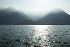 Como lake in Italy Royalty Free Stock Images