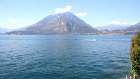 Como lake, Italy. View of the Como lake from Varenna, Italy stock video footage
