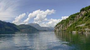 Como lake landscape near Mandello, Italy Stock Photo