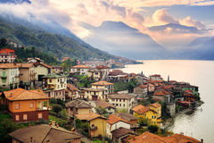 Como Lake, Milan, Italy, On Sunset Stock Photos