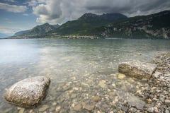 Como lake and mountains Stock Image