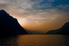 Como Lake Sunset Royalty Free Stock Photos