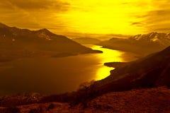 Como lake at sunset Royalty Free Stock Image