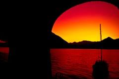 Como lake at sunset Royalty Free Stock Photo