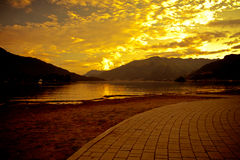 Como lake at sunset Stock Images