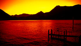 Como lake at sunset Stock Photography