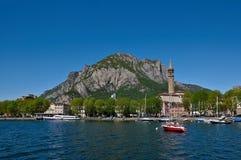 Como Lake. The town of Lecco on the banks of the Como lake Stock Image