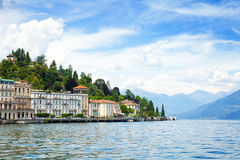 Como lake. Tremezzo town skyline Stock Image