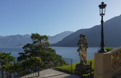 Como Lake - Villa Balbianello. A view from the famous balcony of Villa Balbianello on the Como Lake - Italy royalty free stock image