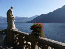 Como Lake - villa Balbianello Arkivbilder