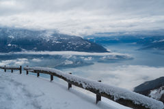 Como lake in winter Royalty Free Stock Photo