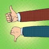 Como las manos de la aversión stock de ilustración