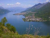 Como and Lecco lake Stock Image