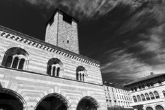Como Lombardy, Italy: Broletto Stock Photography