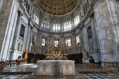 Como (Lombardy, Italy) cathedral interior Royalty Free Stock Photos