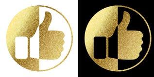 Como nós em dourado Imagens de Stock