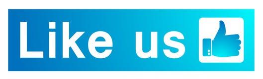 Como n?s na bandeira do facebook no ?cone do logotipo das ilustra??es para a Web ilustração stock