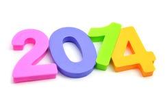 2014, como o ano novo Imagens de Stock Royalty Free