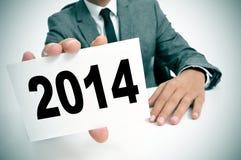 2014, como o ano novo Imagem de Stock