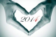2014, como o ano novo Imagem de Stock Royalty Free