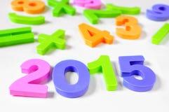 2015, como o ano novo Fotografia de Stock Royalty Free