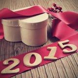 2015, como o ano novo Foto de Stock