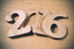 2016, como o ano novo Imagens de Stock