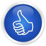 Como o botão redondo azul superior do ícone ilustração stock