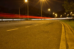 Como o noturna do cidade da Dinamarca dos luzes Imagens de Stock Royalty Free
