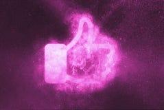 Como o sinal, como o símbolo Fundo abstrato do céu noturno ilustração royalty free