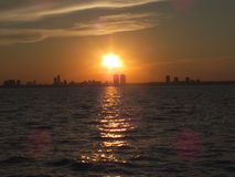 Como o sol se ajusta Fotos de Stock