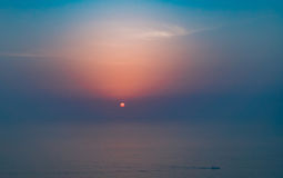 Como o sol se ajusta Imagem de Stock Royalty Free